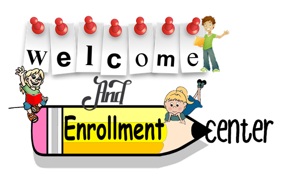 Welcome and Enrollment Center Clipart