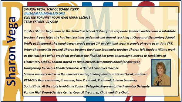Sharon Vega School Board Clerk