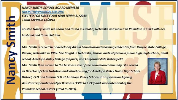 Nancy Smith School Board Member