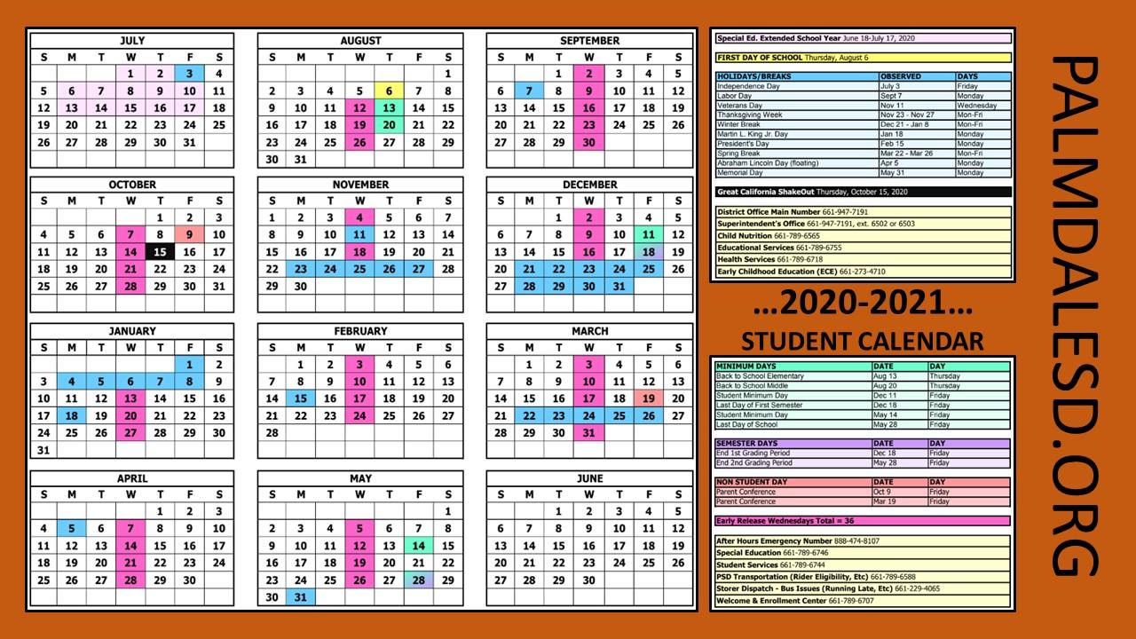 Psd School Calendar 2021 Palmdale School District / PSD Homepage