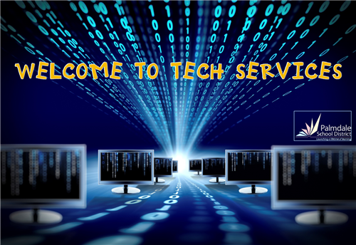 WELCOME TO TECH SERVICES LOGO